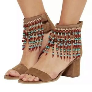 Sam Edelman sibel beaded tassel boho sandals sz 9